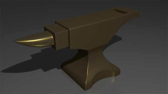 Anvil - low poly game model - 3DOcean Item for Sale