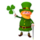 3D Illustration of Saint Patrick with Clover - GraphicRiver Item for Sale