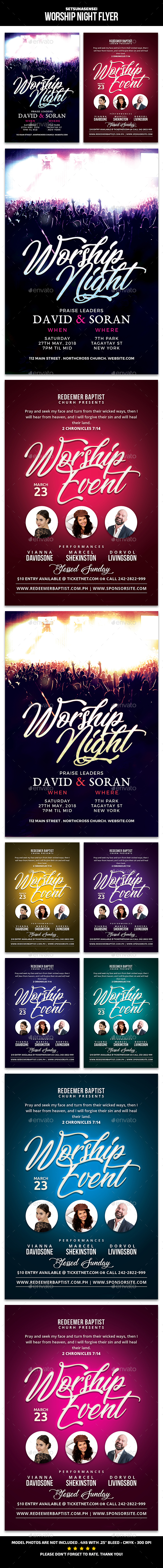 Worship Night Flyer - Church Flyers