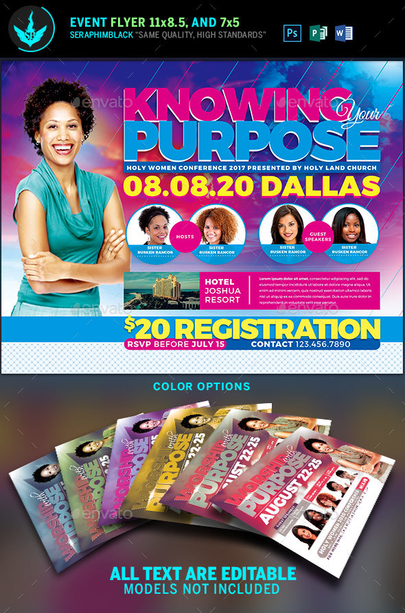 Knowing Your Purpose Church Conference Flyer Template - Church Flyers