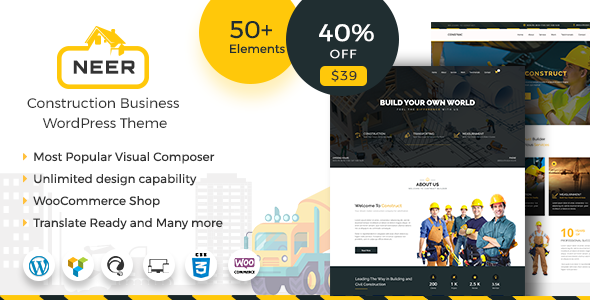 Neer - Construction Business WordPress Theme