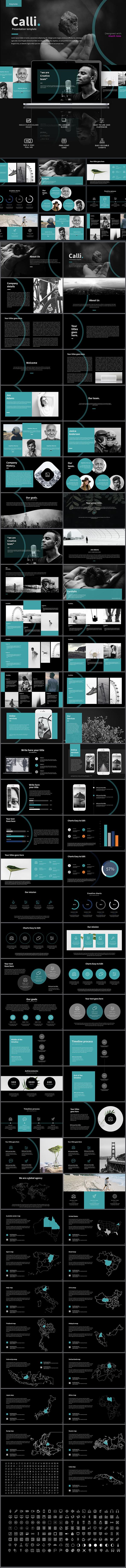Calli  Keynote Template - Keynote Templates Presentation Templates