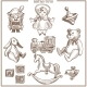 Retro Toys Sketch Collection Vector Hand Drawn - GraphicRiver Item for Sale