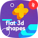Abstract Flat 3D Shapes Backgrounds - GraphicRiver Item for Sale