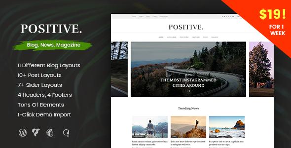 Positive - Blog, News, Magazine WordPress Theme