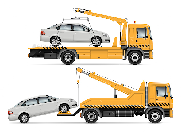 Tow Truck - Man-made Objects Objects