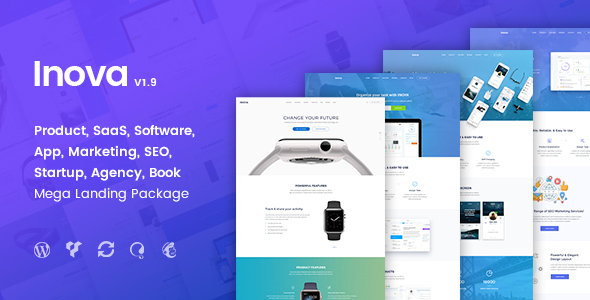 Inova - Multi-concept Landing Page Combo WordPress Theme With RTL