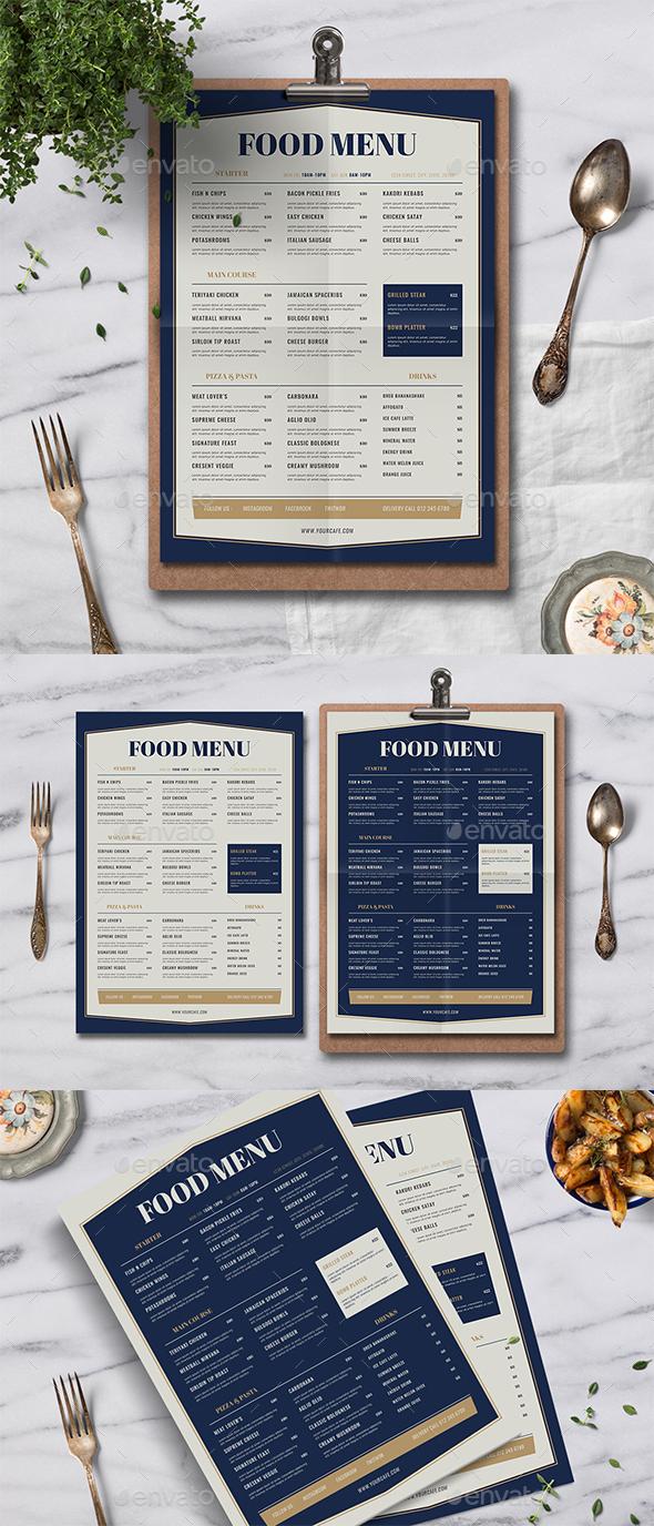 Elegant Food Menu - Food Menus Print Templates