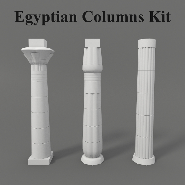 Egyptian Columns Kit - 3DOcean Item for Sale