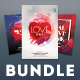 Valentine Flyer Bundle Vol.05 - GraphicRiver Item for Sale