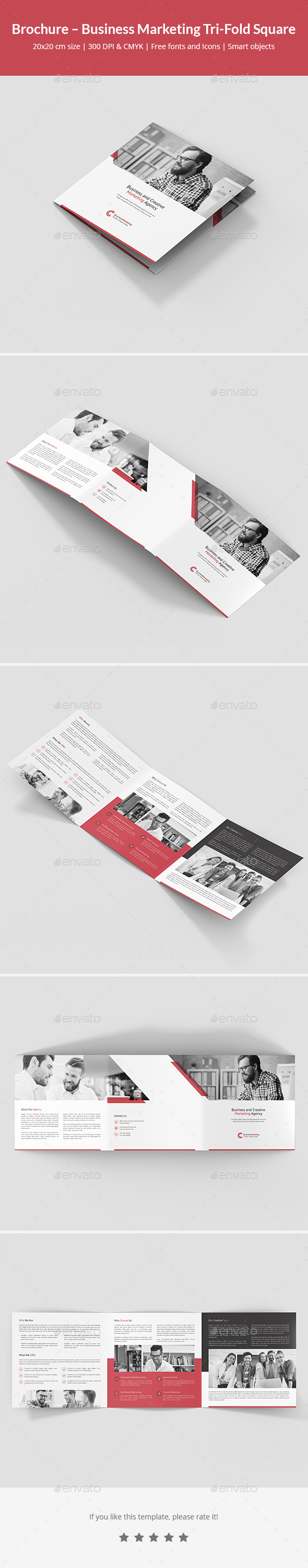 Brochure – Business Marketing Tri-Fold Square - Corporate Brochures