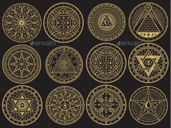 Golden Mystery Emblem Collection - Decorative Symbols Decorative