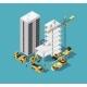 Building Construction Vector 3d Isometric Concept