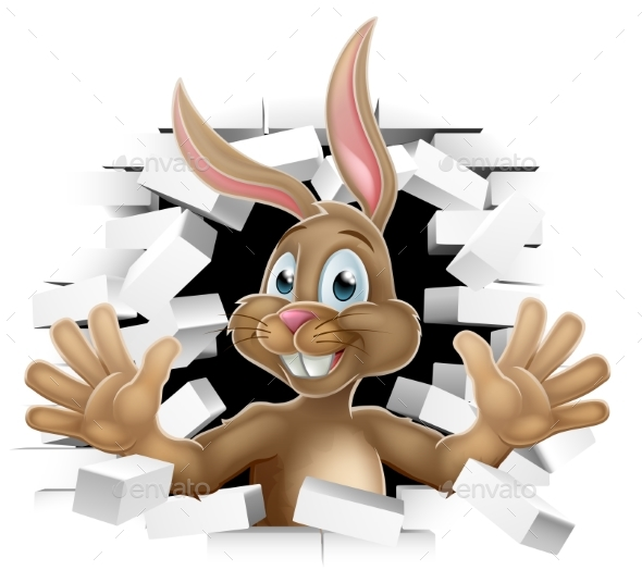 Easter Bunny Rabbit Cartoon Character - Miscellaneous Seasons/Holidays