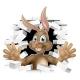 Easter Bunny Rabbit Cartoon Character
