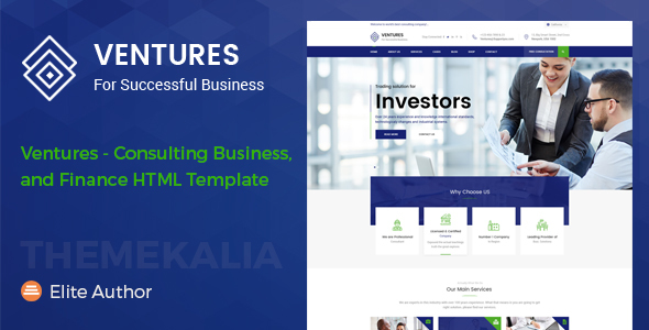 Image of Ventures - Consulting Business and Finance HTML Template