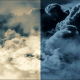 Flying Over The Clouds At Night and Day - VideoHive Item for Sale