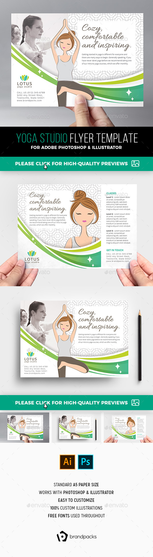 Yoga Studio Flyer Template - Sports Events