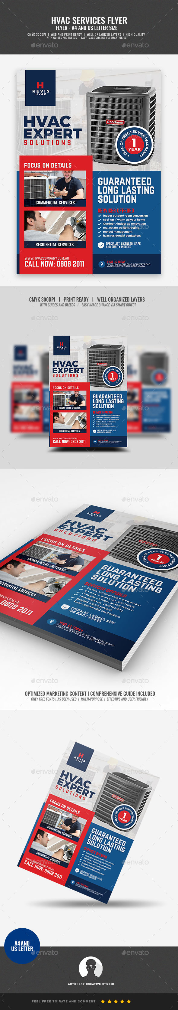 HVAC Installation and Repair Services Flyer - Corporate Flyers