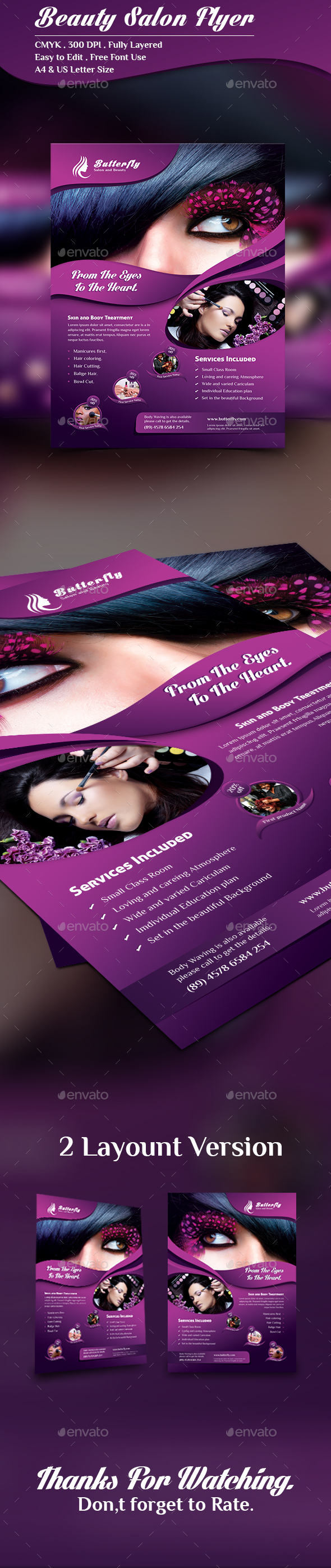 Beauty Salon Flyer - Corporate Flyers