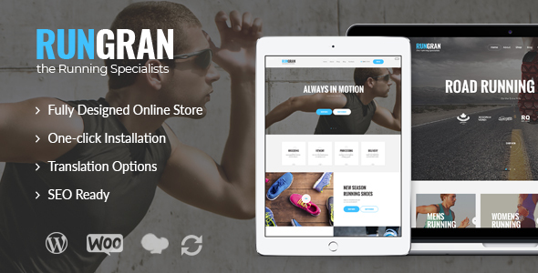 Run Gran | Sports Apparel & Gear Store WordPress Theme - WooCommerce eCommerce