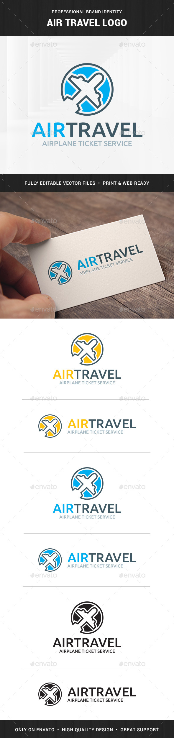 Air Travel logo Template - Logo Templates