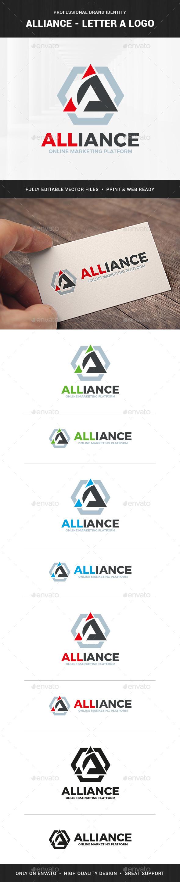 Alliance - Letter A Logo - Letters Logo Templates