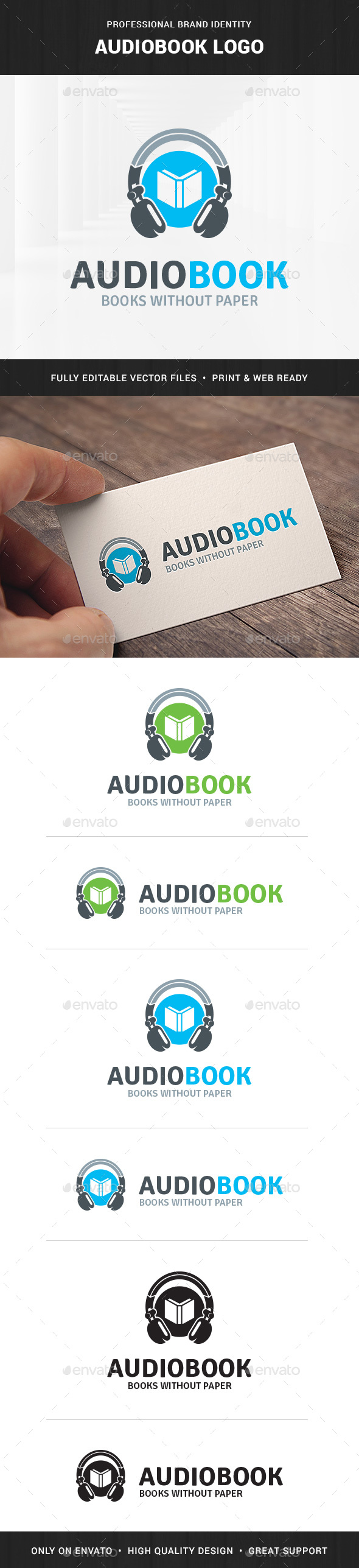 Audio Book Logo Template - Objects Logo Templates
