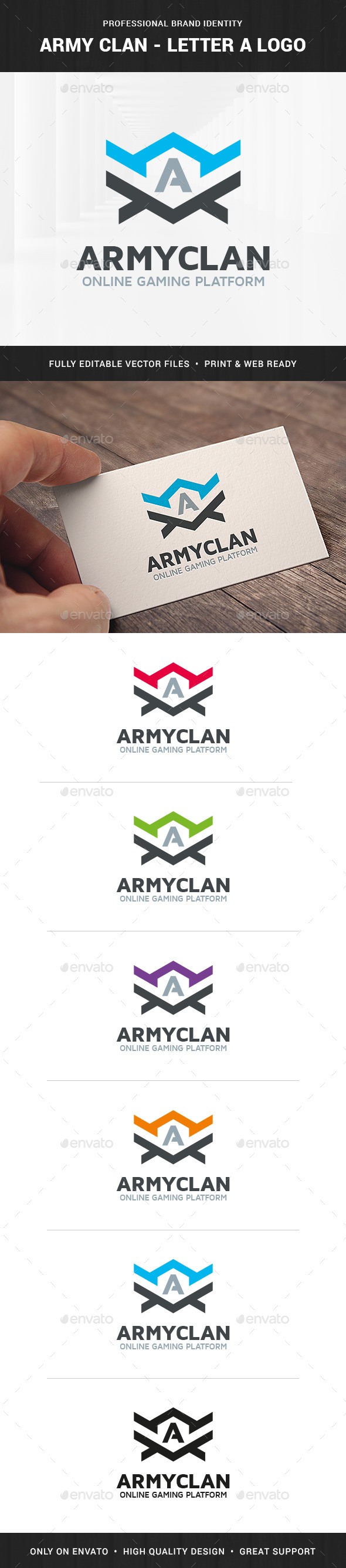 Army Clan - Letter A Logo - Letters Logo Templates
