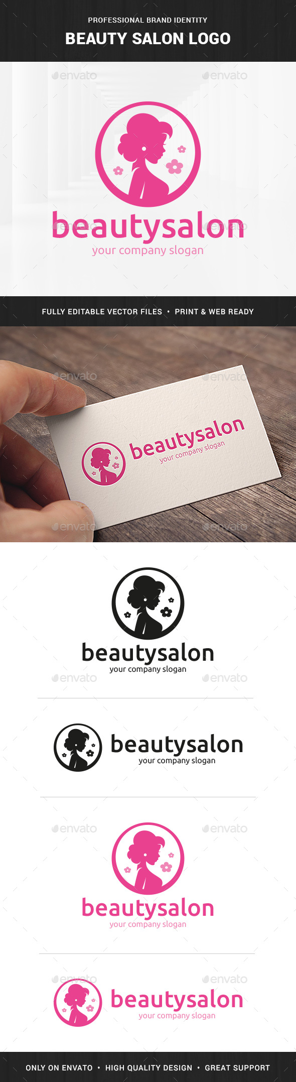 Beauty Salon Logo Template - Humans Logo Templates
