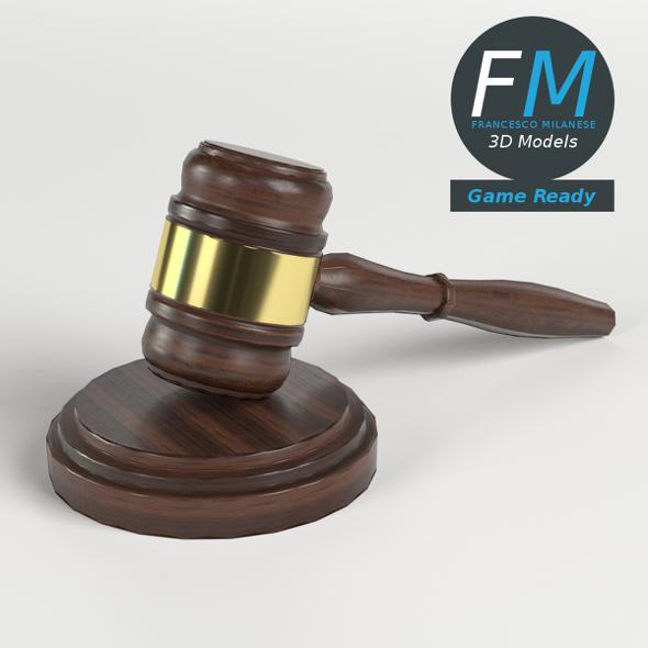 Law Hammer Gavel GR - 3DOcean Item for Sale