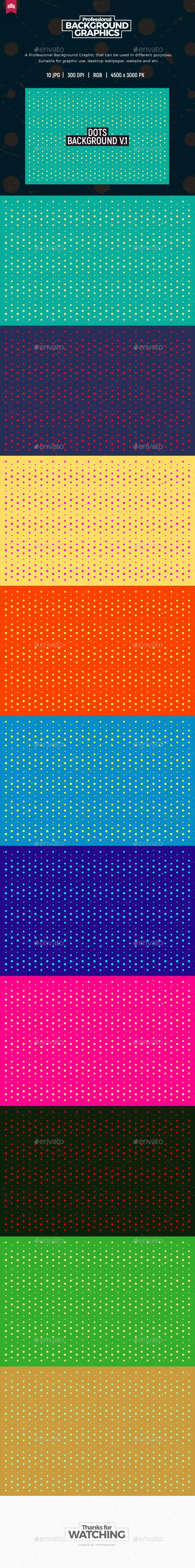 Dots Background V.1 - Patterns Backgrounds
