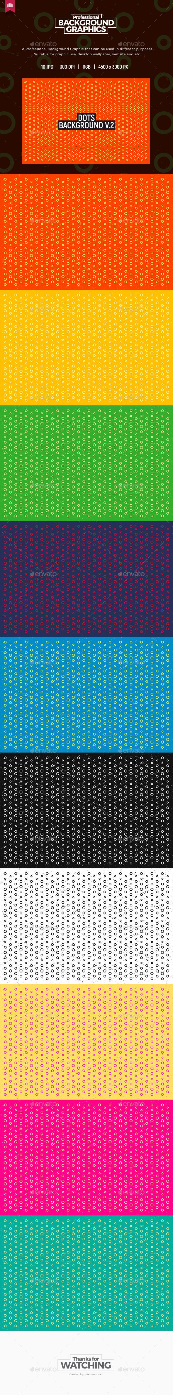 Dots Background V.2 - Patterns Backgrounds