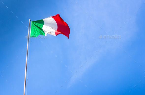 Italian flag - Stock Photo - Images
