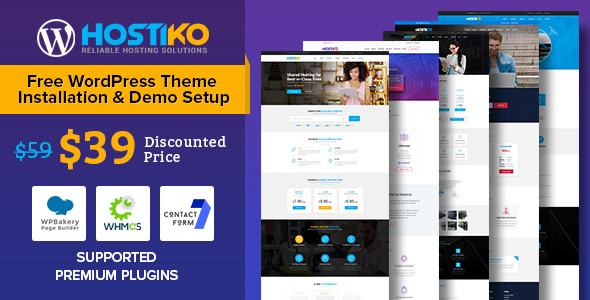Image of Hostiko WordPress WHMCS Hosting Theme