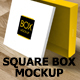 Square Box Mockup - GraphicRiver Item for Sale