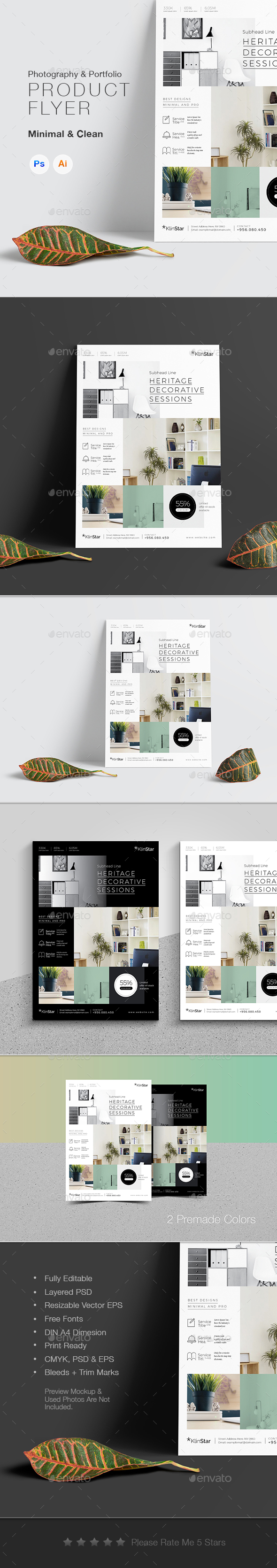 Product & Photography Showcase Flyer - Corporate Business Cards