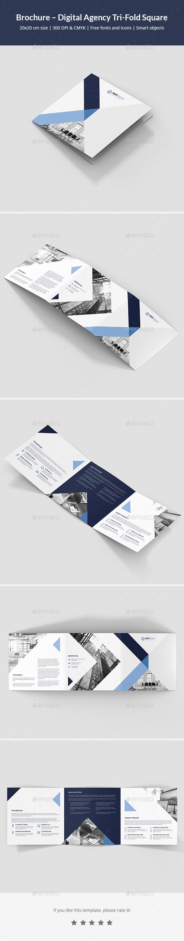Brochure – Digital Agency Tri-Fold Square - Corporate Brochures
