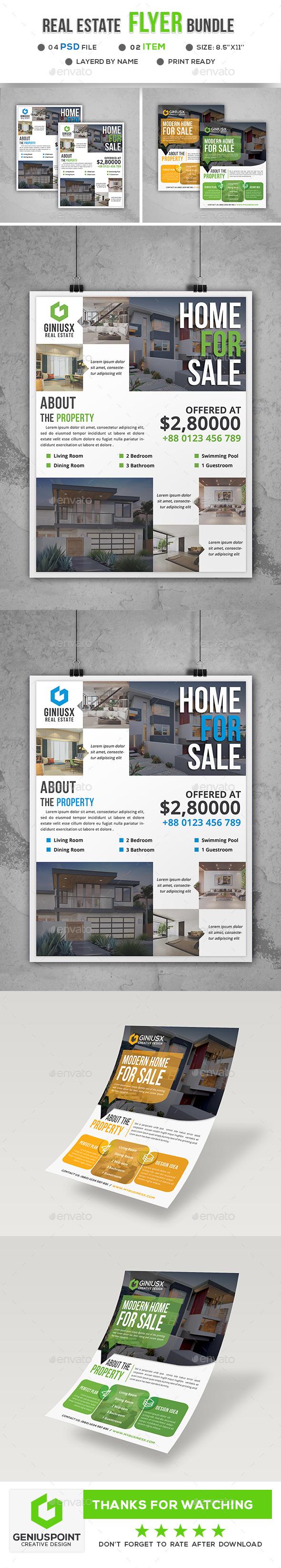 Real Estate Flyer Bundle - Flyers Print Templates