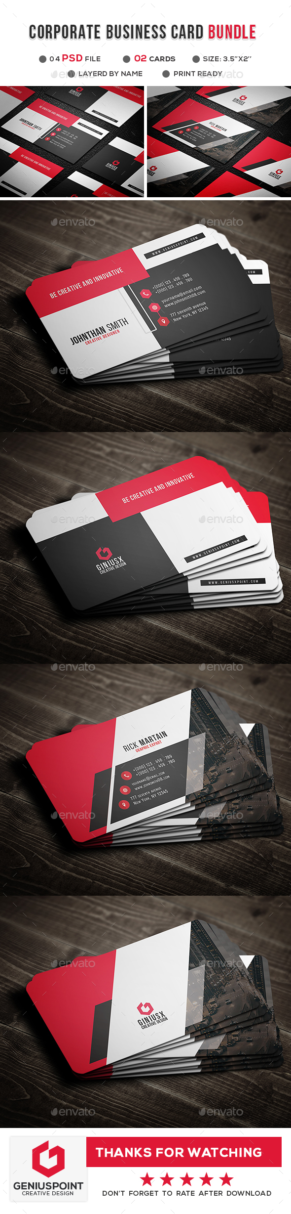 Business Card Templates & Designs from GraphicRiver