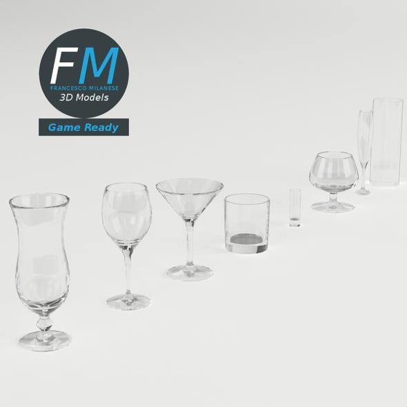 Cocktail Glasses GR - 3DOcean Item for Sale