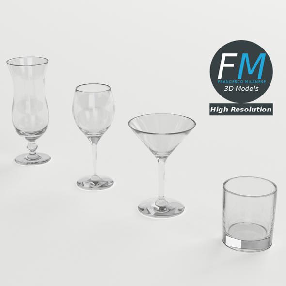 Cocktail Glasses - 3DOcean Item for Sale