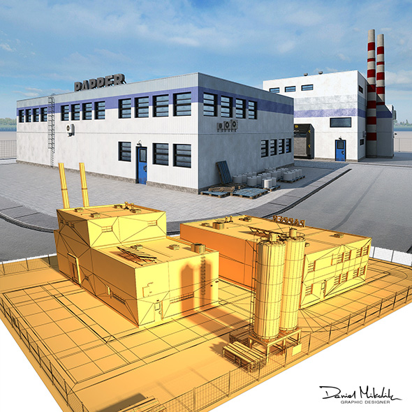 Paper Factory Low Poly PBR - 3DOcean Item for Sale