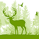Nature Landscape with Deer - GraphicRiver Item for Sale