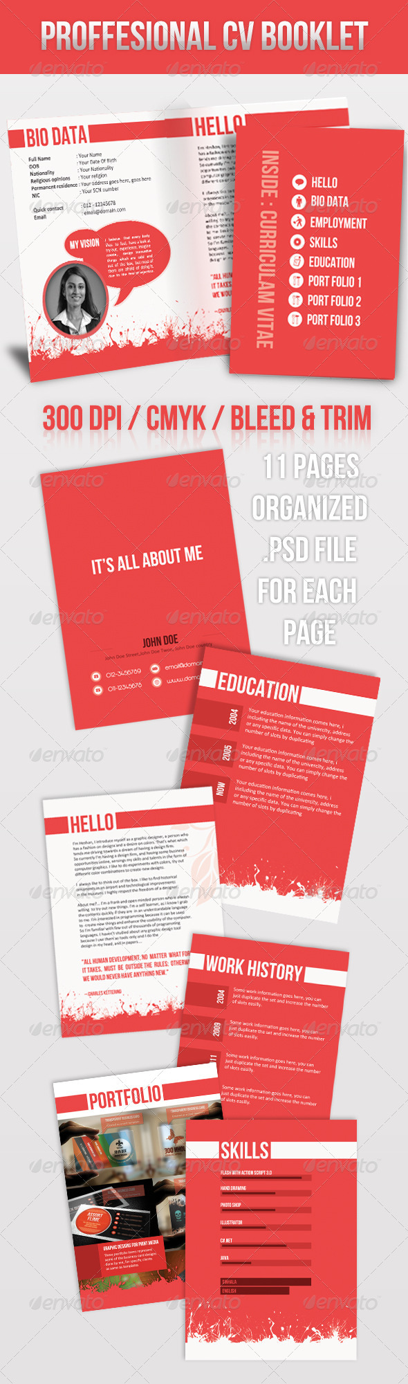 Brochure Style Resume - Resumes Stationery