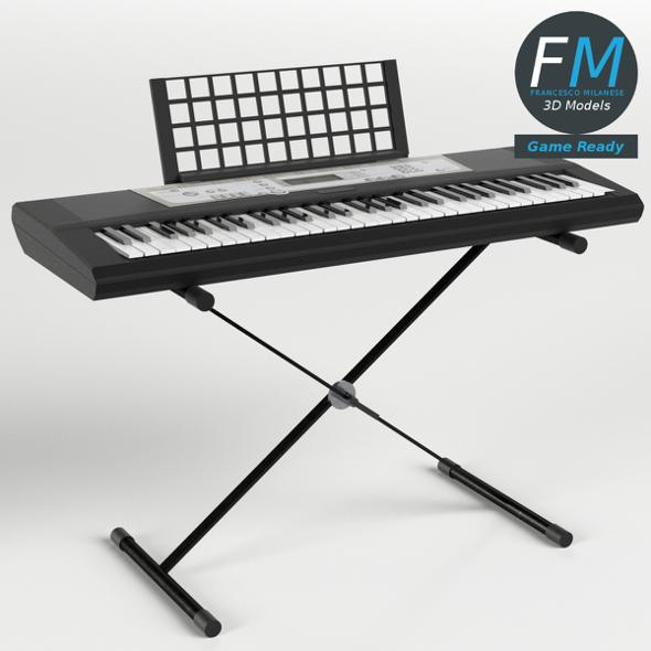 Electronic Keyboard on Stand GR - 3DOcean Item for Sale