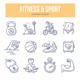 Fitness & Sport Doodle Icons - GraphicRiver Item for Sale