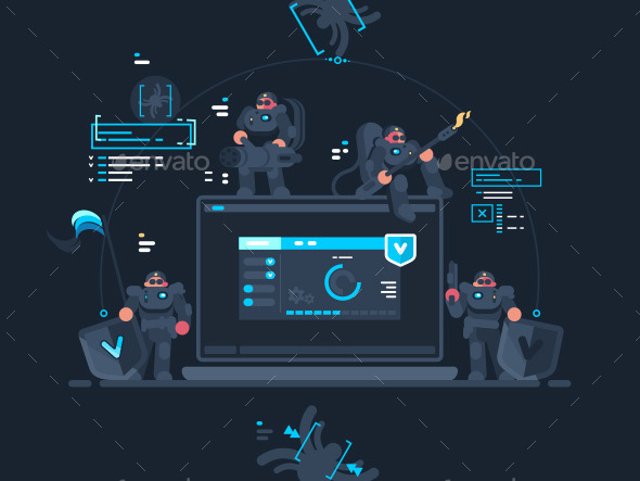 Antivirus Computer Security - Miscellaneous Vectors