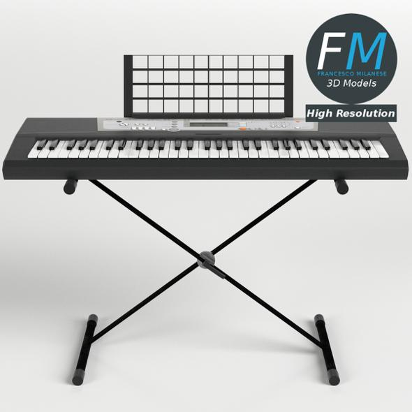 Electronic Piano Keyboard on Stand - 3DOcean Item for Sale