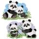 Panda Bear Characters Vector Cartoon Illustration